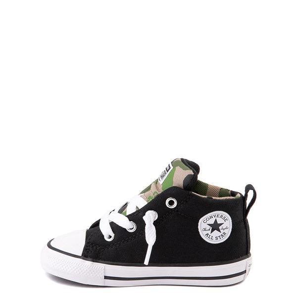 alternate view Converse Chuck Taylor All Star Street Mid Sneaker - Baby / Toddler - Black / CamoALT1