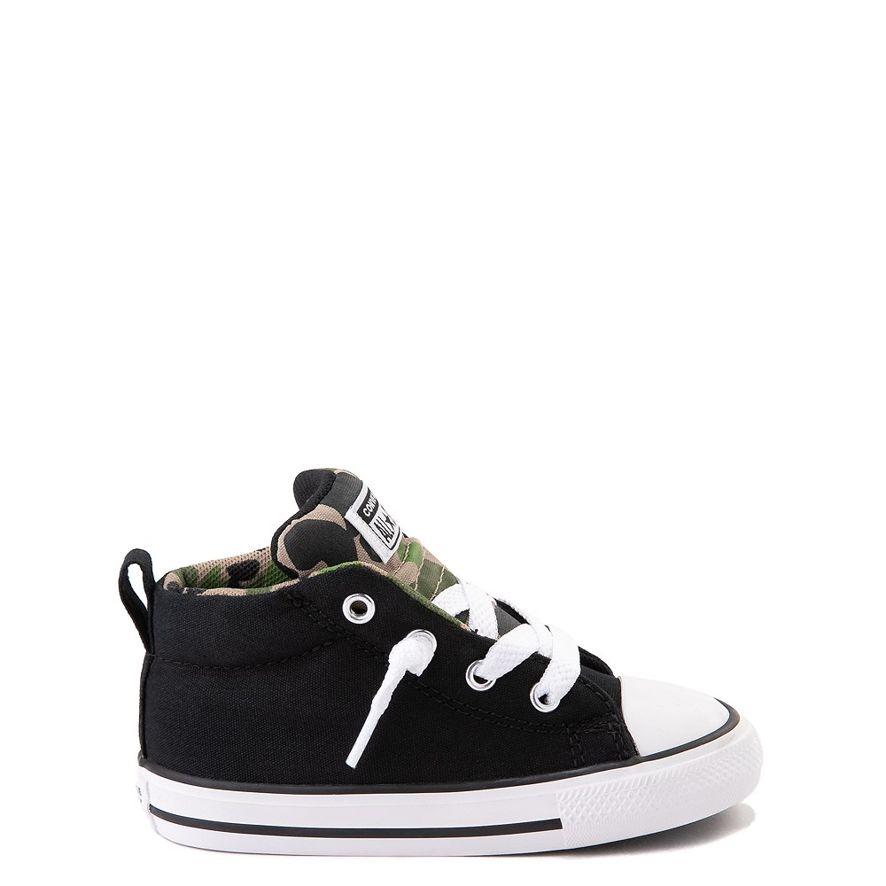 Converse Chuck Taylor All Star Street Mid Sneaker - Baby / Toddler - Black / Camo