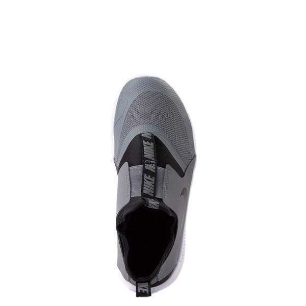alternate view Nike Flex Runner Slip On Athletic Shoe - Little Kid - GrayALT4B