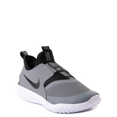 Alternate view of Nike Flex Runner Slip On Athletic Shoe - Little Kid - Gray