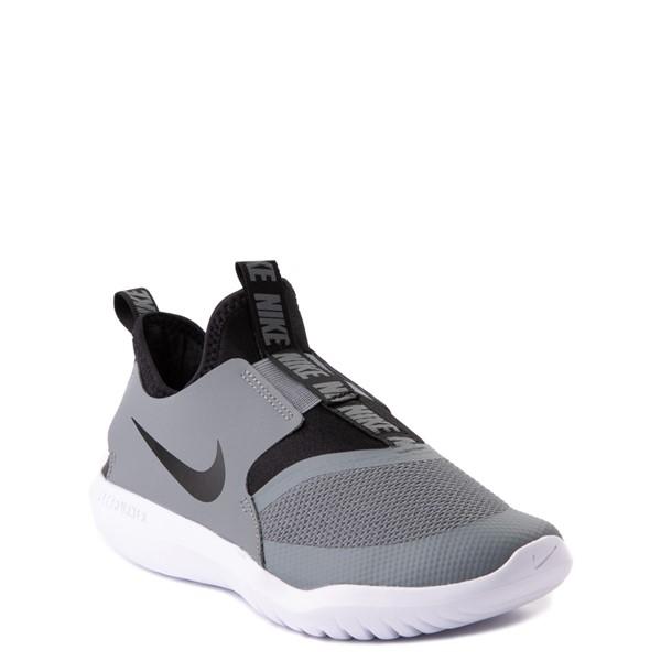 alternate view Nike Flex Runner Slip On Athletic Shoe - Big Kid - GrayALT1