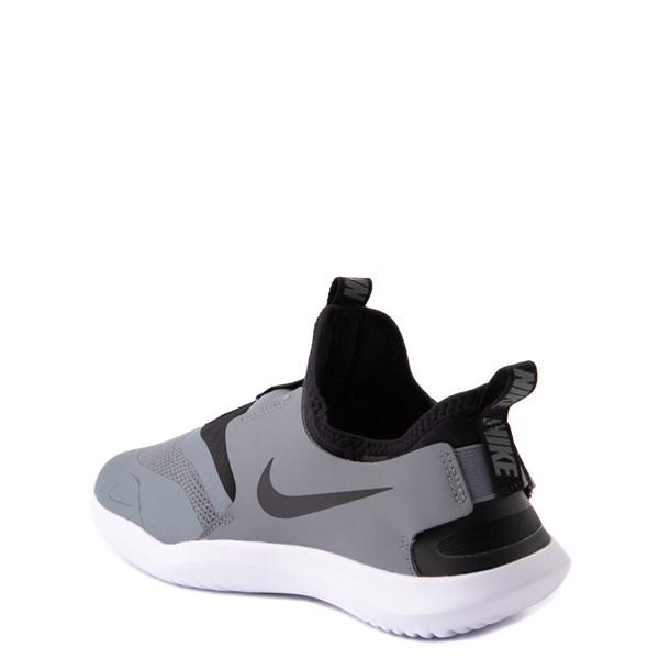 alternate view Nike Flex Runner Slip On Athletic Shoe - Big Kid - GrayALT2