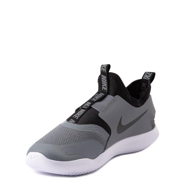 alternate view Nike Flex Runner Slip On Athletic Shoe - Big Kid - GrayALT3