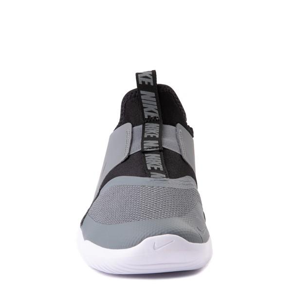 alternate view Nike Flex Runner Slip On Athletic Shoe - Big Kid - GrayALT4