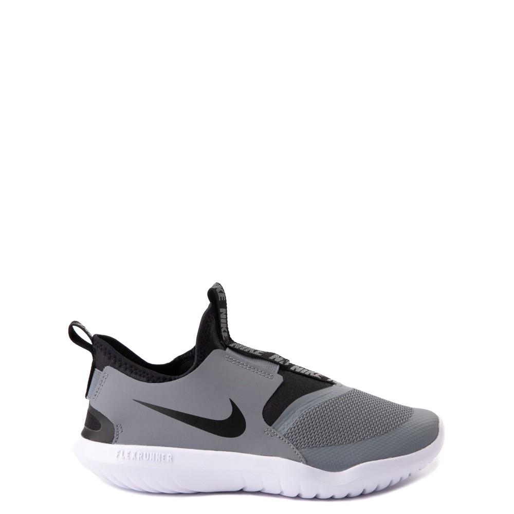 Nike Flex Runner Slip On Athletic Shoe - Big Kid - Gray