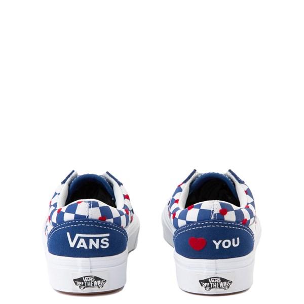 alternate view Vans Old Skool ComfyCush® Autism Awareness Checkerboard Skate Shoe - Little Kid - Blue / WhiteALT6