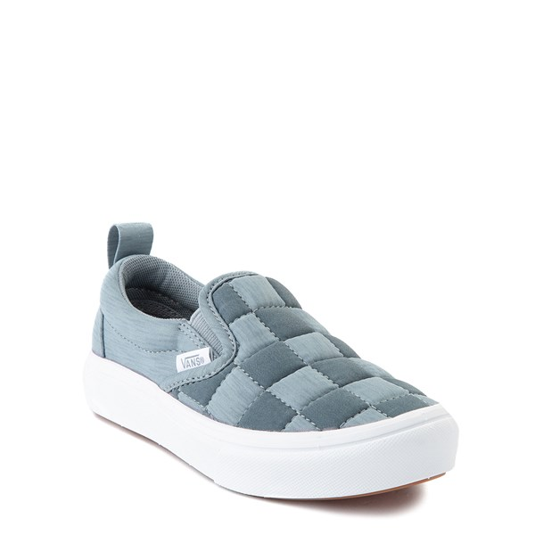 alternate view Vans Slip On ComfyCush® Autism Awareness Checkerboard Skate Shoe - Little Kid - GrayALT1