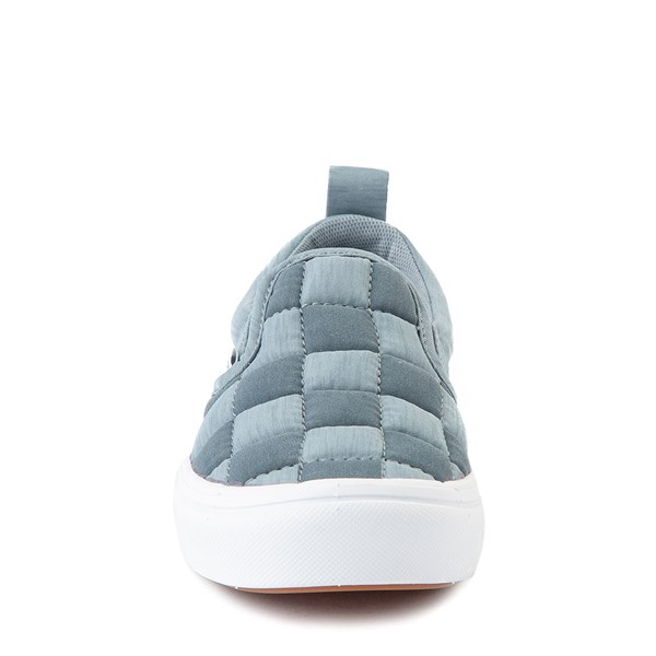 alternate view Vans Slip On ComfyCush® Autism Awareness Checkerboard Skate Shoe - Little Kid - GrayALT4