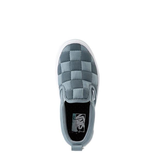 alternate view Vans Slip On ComfyCush® Autism Awareness Checkerboard Skate Shoe - Little Kid - GrayALT4B