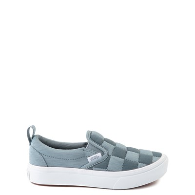 Main view of Vans Slip On ComfyCush® Autism Awareness Checkerboard Skate Shoe - Little Kid - Gray