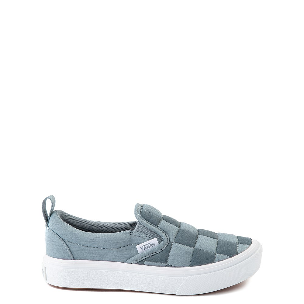 Vans Slip On ComfyCush® Autism Awareness Checkerboard Skate Shoe - Little Kid - Gray