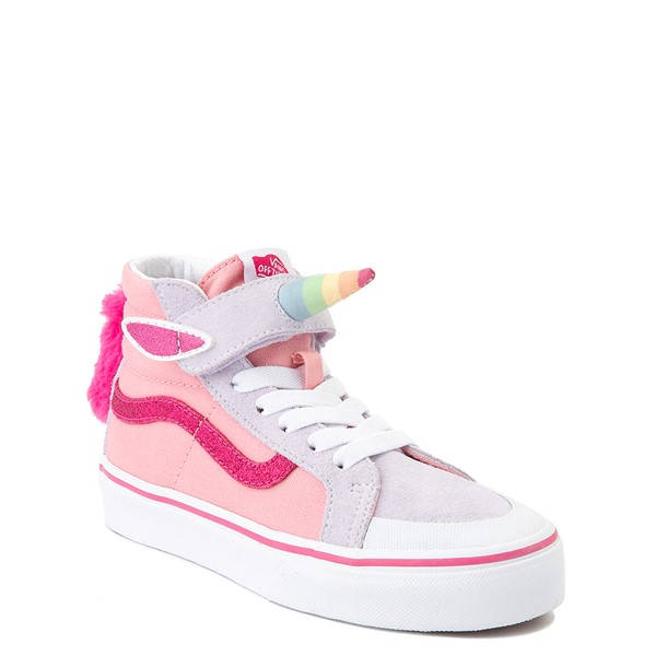 alternate view Vans Sk8 Hi V Unicorn Skate Shoe - Big Kid - PinkALT1