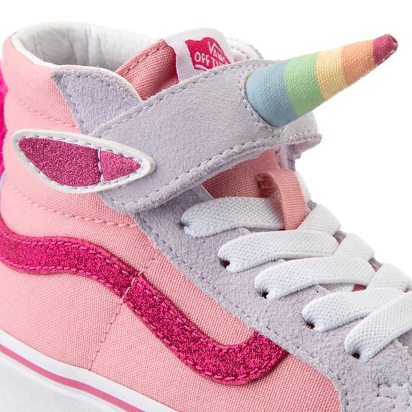 alternate view Vans Sk8 Hi V Unicorn Skate Shoe - Big Kid - PinkALT1B
