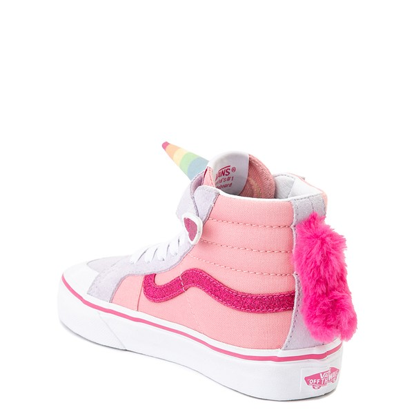 alternate view Vans Sk8 Hi V Unicorn Skate Shoe - Big Kid - PinkALT2