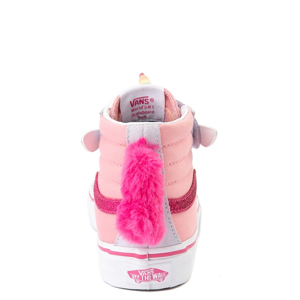 alternate view Vans Sk8 Hi V Unicorn Skate Shoe - Big Kid - PinkALT2B