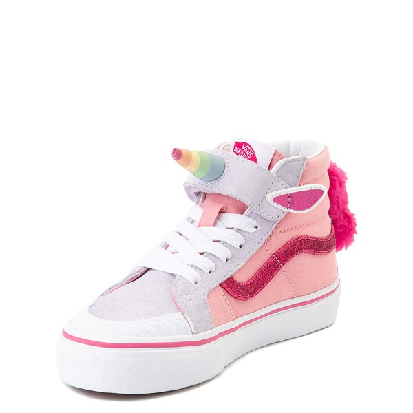 alternate view Vans Sk8 Hi V Unicorn Skate Shoe - Big Kid - PinkALT3