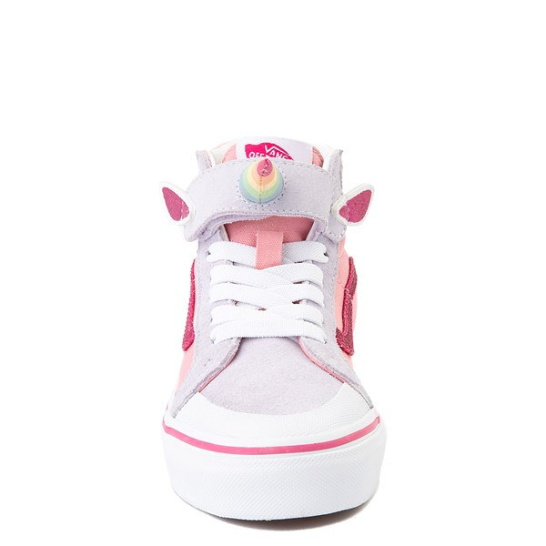 alternate view Vans Sk8 Hi V Unicorn Skate Shoe - Big Kid - PinkALT4