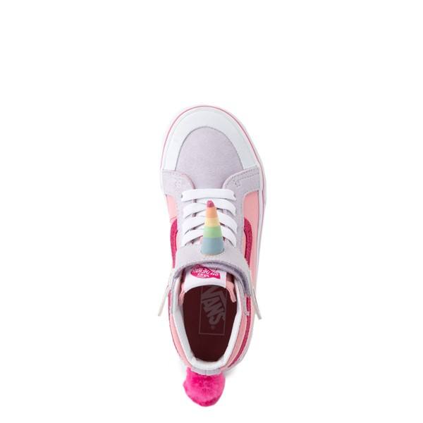 alternate view Vans Sk8 Hi V Unicorn Skate Shoe - Big Kid - PinkALT4B