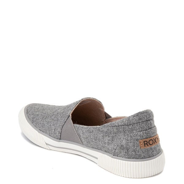 alternate view Womens Roxy Brayden Slip On Casual Shoe - GrayALT2