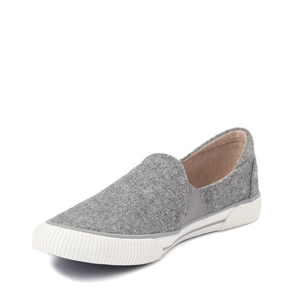 alternate view Womens Roxy Brayden Slip On Casual Shoe - GrayALT3