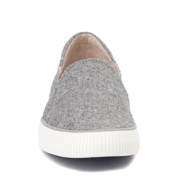alternate view Womens Roxy Brayden Slip On Casual Shoe - GrayALT4
