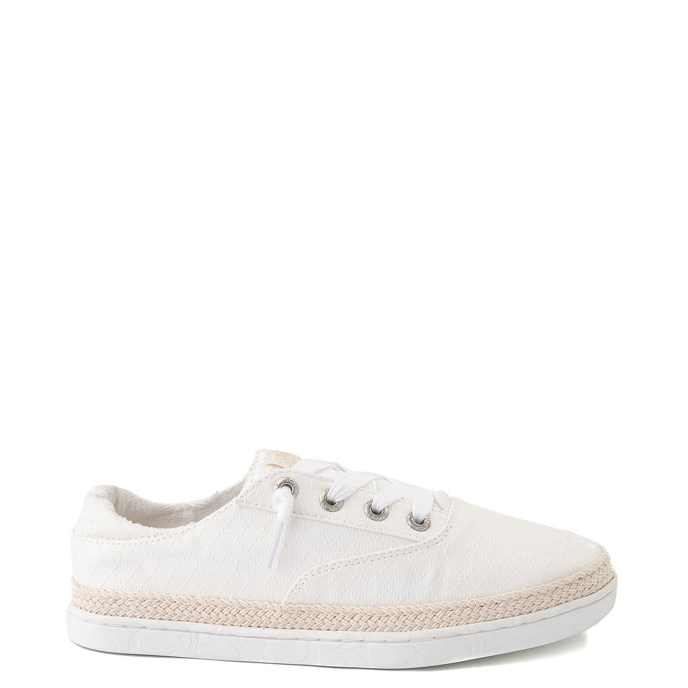 Womens Roxy Talon Slip On Casual Shoe - White