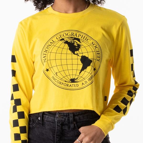 alternate view Womens Vans x National Geographic Cropped Long Sleeve Tee - YellowALT1B
