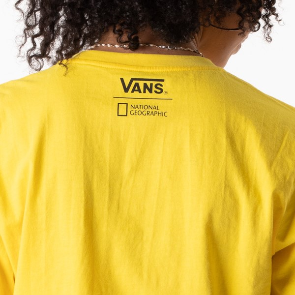 alternate view Womens Vans x National Geographic Cropped Long Sleeve Tee - YellowALT1C