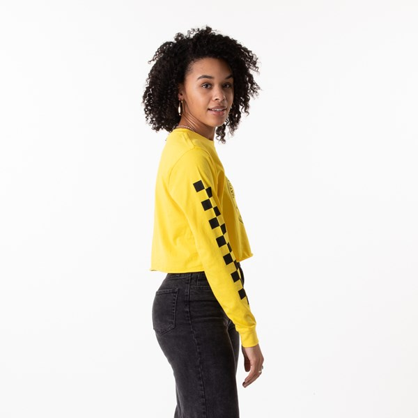 alternate view Womens Vans x National Geographic Cropped Long Sleeve Tee - YellowALT2