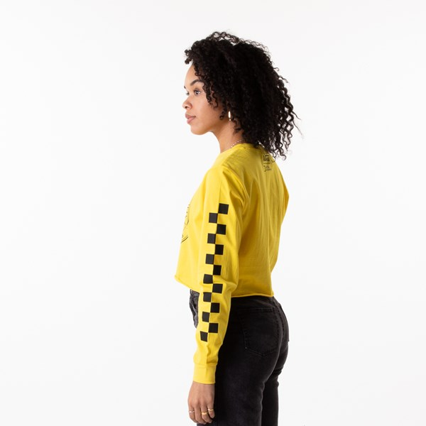alternate view Womens Vans x National Geographic Cropped Long Sleeve Tee - YellowALT3