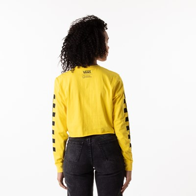 Alternate view of Womens Vans x National Geographic Cropped Long Sleeve Tee - Yellow