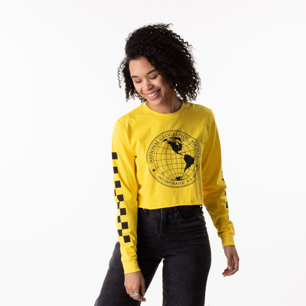 Womens Vans x National Geographic Cropped Long Sleeve Tee - Yellow