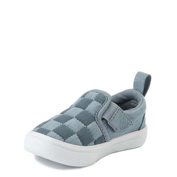 alternate view Vans Slip On ComfyCush® Autism Awareness Checkerboard Skate Shoe - Baby / Toddler - GrayALT3