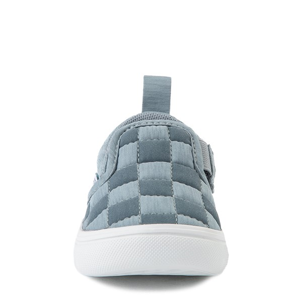 alternate view Vans Slip On ComfyCush® Autism Awareness Checkerboard Skate Shoe - Baby / Toddler - GrayALT4