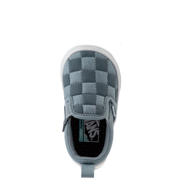 alternate view Vans Slip On ComfyCush® Autism Awareness Checkerboard Skate Shoe - Baby / Toddler - GrayALT4B