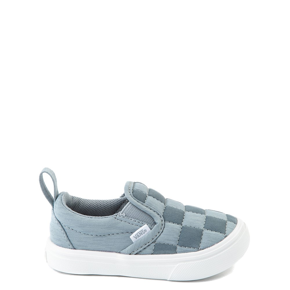 Vans Slip On ComfyCush® Autism Awareness Checkerboard Skate Shoe - Baby / Toddler - Gray