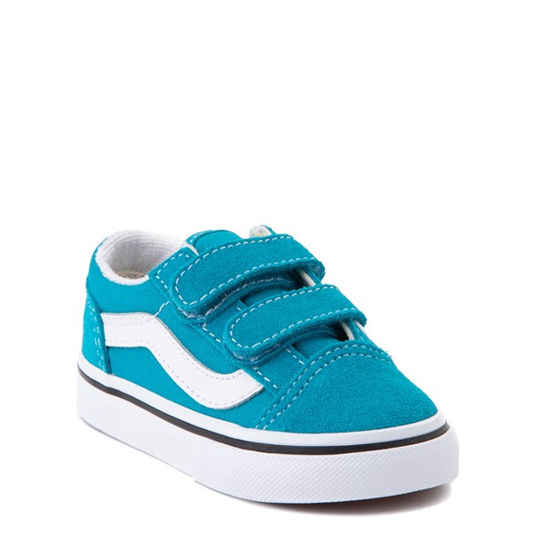 alternate view Vans Old Skool V Skate Shoe - Baby / Toddler - Caribbean SeaALT1
