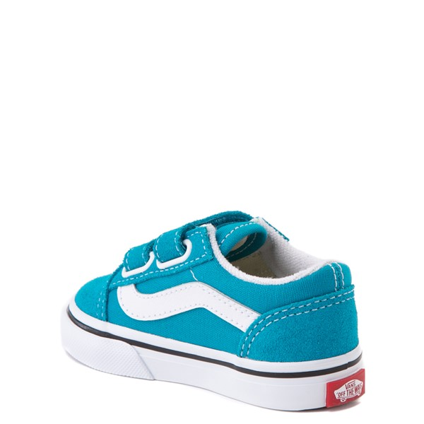 alternate view Vans Old Skool V Skate Shoe - Baby / Toddler - Caribbean SeaALT2