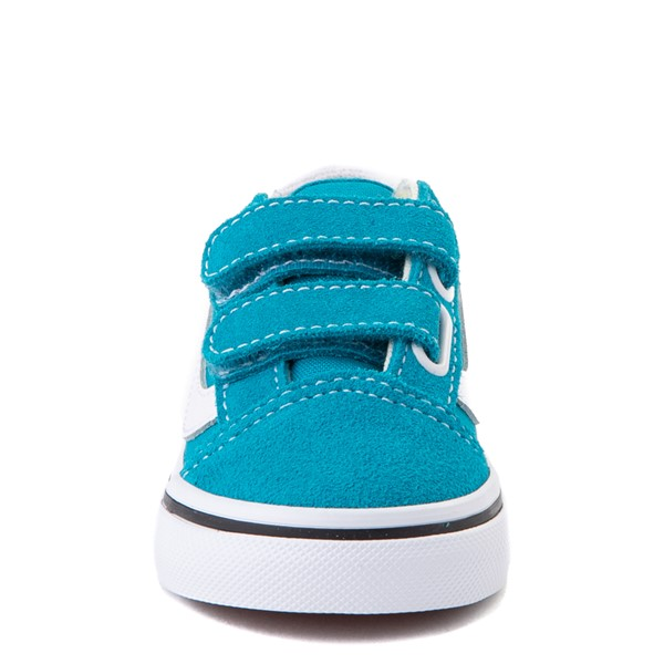 alternate view Vans Old Skool V Skate Shoe - Baby / Toddler - Caribbean SeaALT4