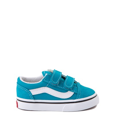 Main view of Vans Old Skool V Skate Shoe - Baby / Toddler - Caribbean Sea