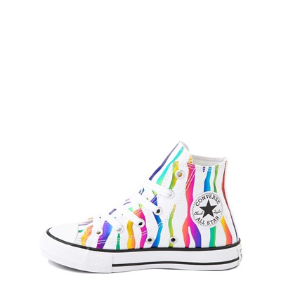Alternate view of Converse Chuck Taylor All Star Hi Zebra Sneaker - Little Kid / Big Kid - White / Rainbow
