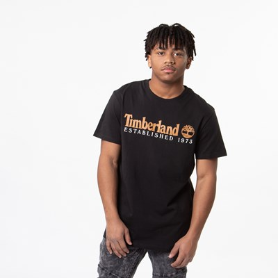 Main view of Mens Timberland Core Established Logo Tee - Black / Wheat