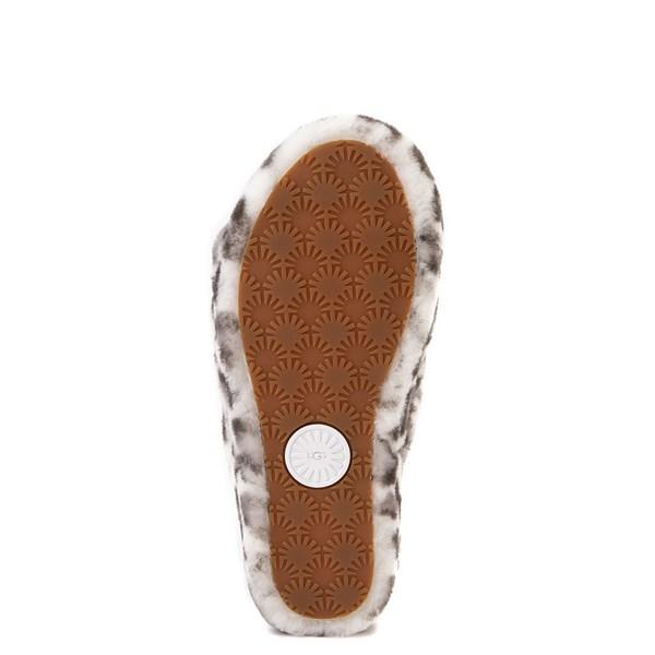 alternate view Womens UGG® Fluff Yeah Slide Sandal - White LeopardALT5