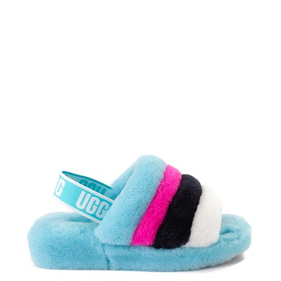 Main view of Womens UGG® Fluff Yeah Slide Sandal - Clear Water Blue