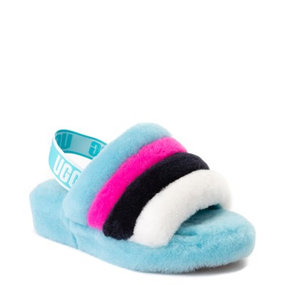 Alternate view of Womens UGG® Fluff Yeah Slide Sandal - Clear Water Blue