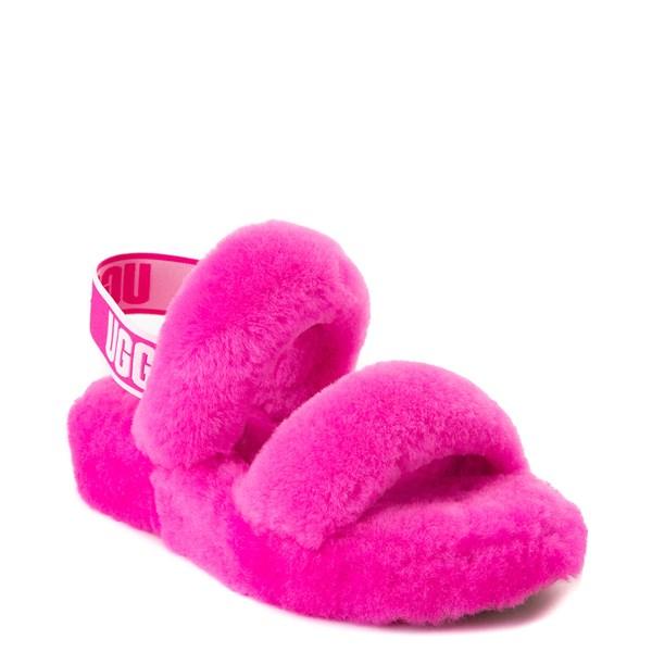 alternate view Womens UGG® Oh Yeah Slide Sandal - Rock RoseALT1