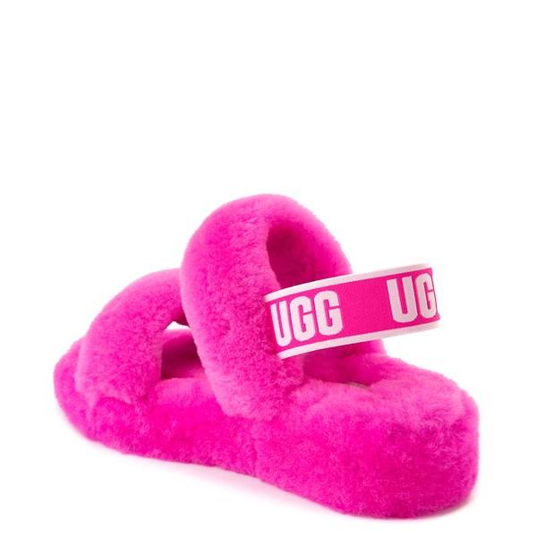 alternate view Womens UGG® Oh Yeah Slide Sandal - Rock RoseALT2
