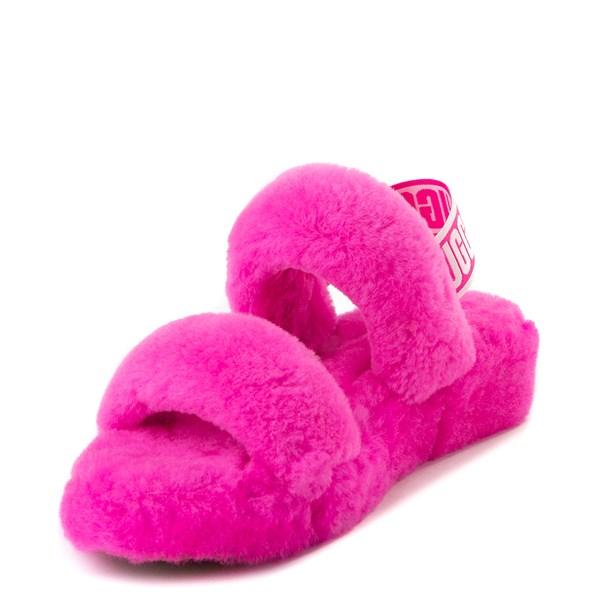 alternate view Womens UGG® Oh Yeah Slide Sandal - Rock RoseALT3