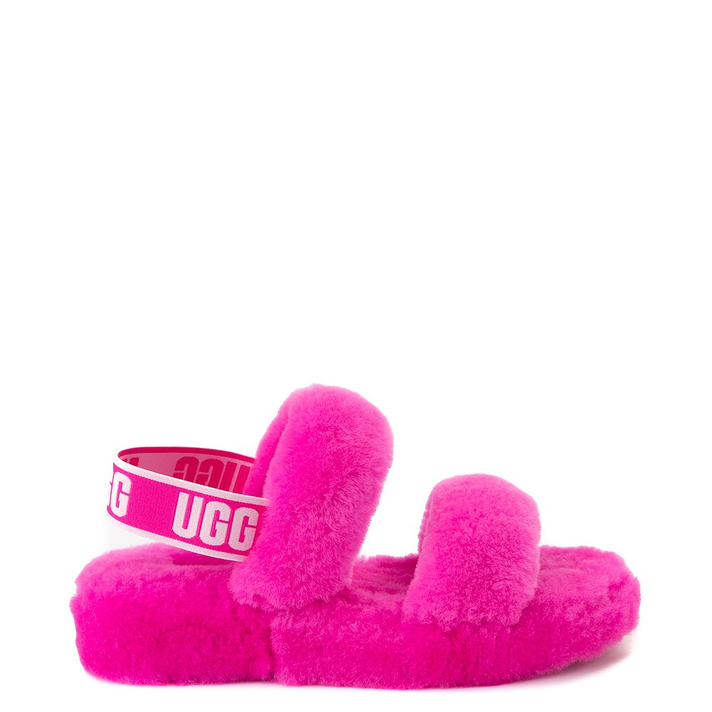 Womens UGG® Oh Yeah Slide Sandal - Rock Rose