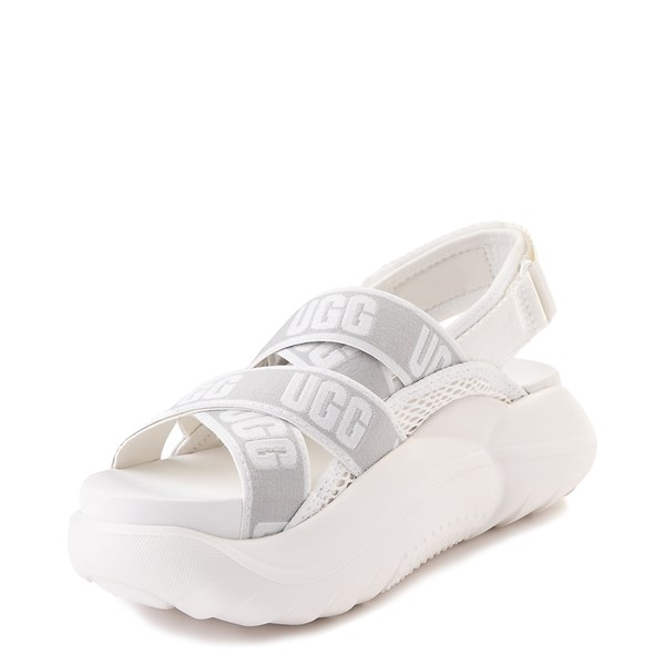 alternate view Womens UGG® LA Cloud Platform Sandal - WhiteALT3